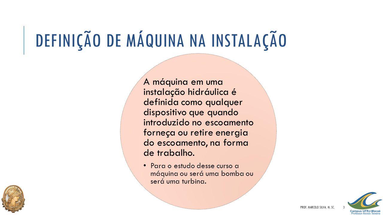 EQUAÇÃO DA ENERGIA NA PRESENÇA DE UMA MÁQUINA PROF. MARCELO SILVA, M. SC.4