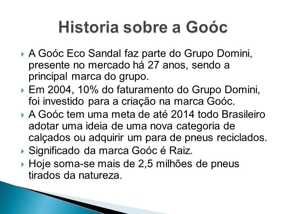 A Goóc Eco Sandal faz parte do Grupo Domini, presente no mercado há 27 anos, sendo a principal marca do grupo. Em 2004, 10% do faturamento do Grupo Do