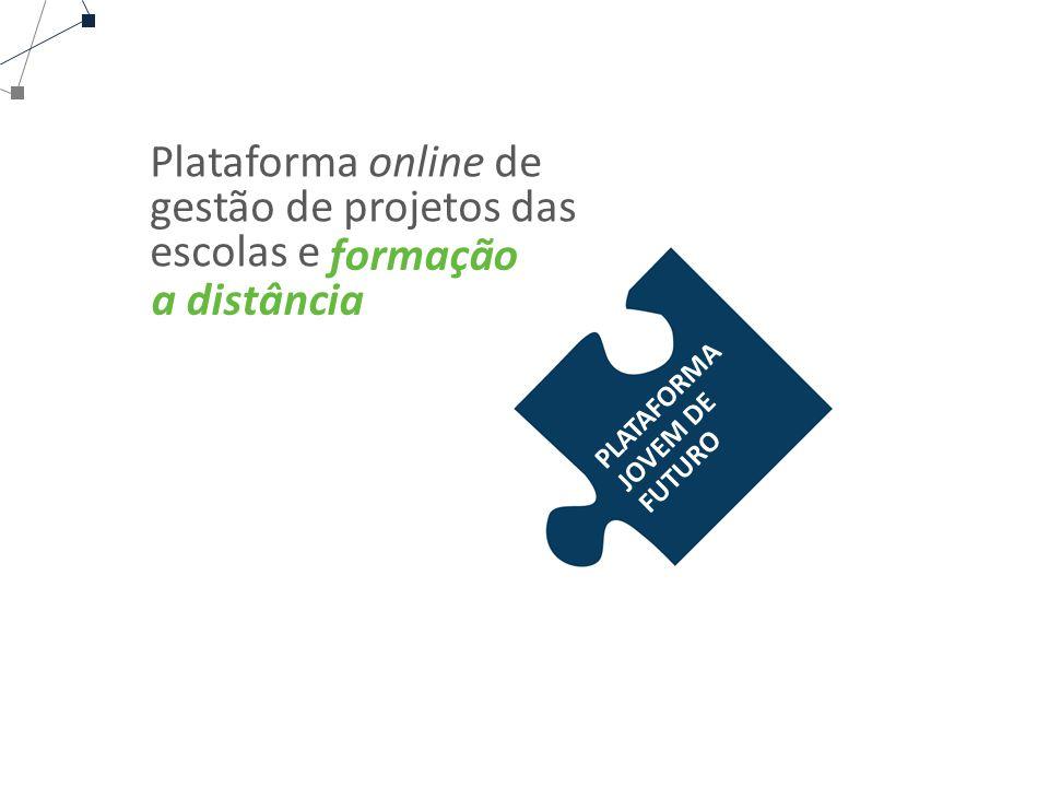 PLATAFORMA JOVEM DE FUTURO Plataforma online de gestão de projetos das escolas e formação a distância