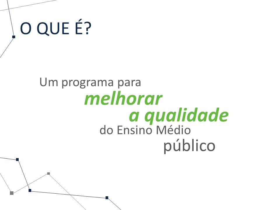 O QUE É? Um programa para melhorar a qualidade do Ensino Médio público