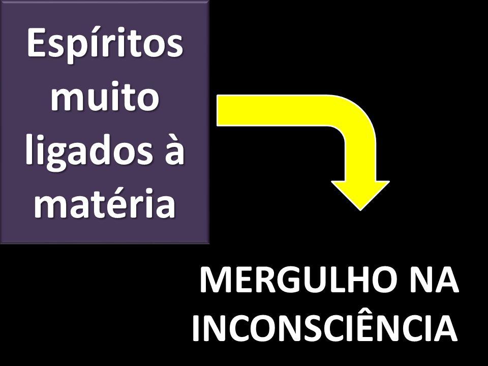 Espíritos muito ligados à matéria MERGULHO NA INCONSCIÊNCIA MERGULHO NA INCONSCIÊNCIA