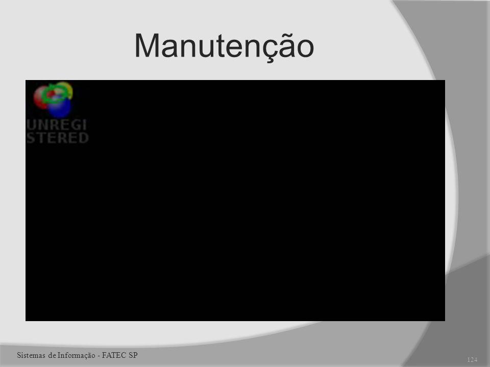 Manutenção Sistemas de Informação - FATEC SP 124