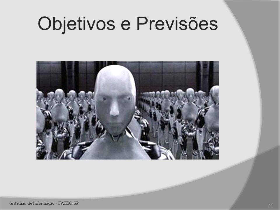 Objetivos e Previsões 23 Sistemas de Informação - FATEC SP