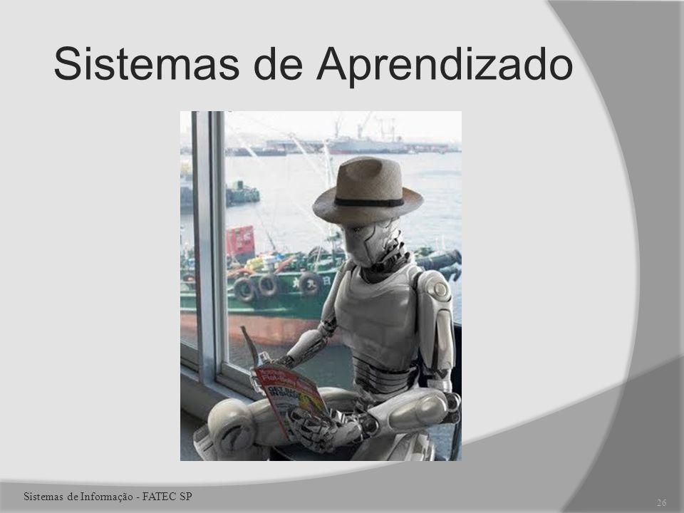 Sistemas de Aprendizado 26 Sistemas de Informação - FATEC SP