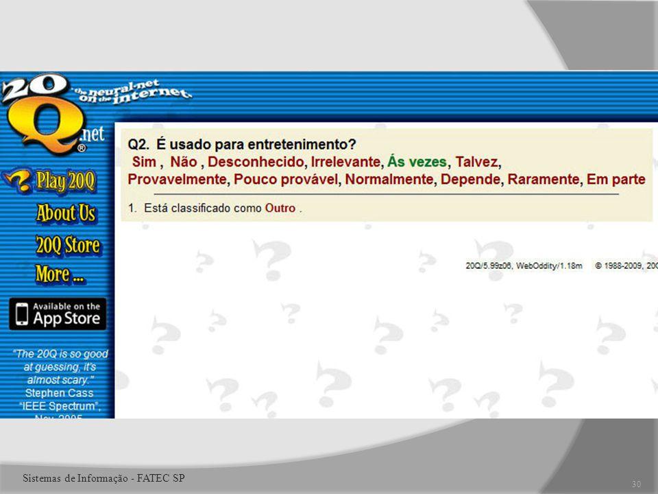 30 Sistemas de Informação - FATEC SP
