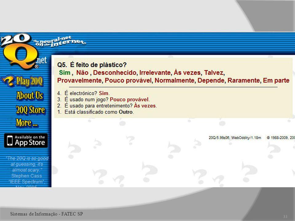 33 Sistemas de Informação - FATEC SP