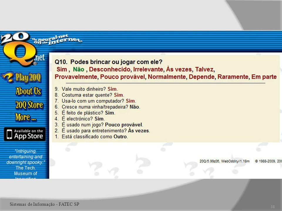 38 Sistemas de Informação - FATEC SP