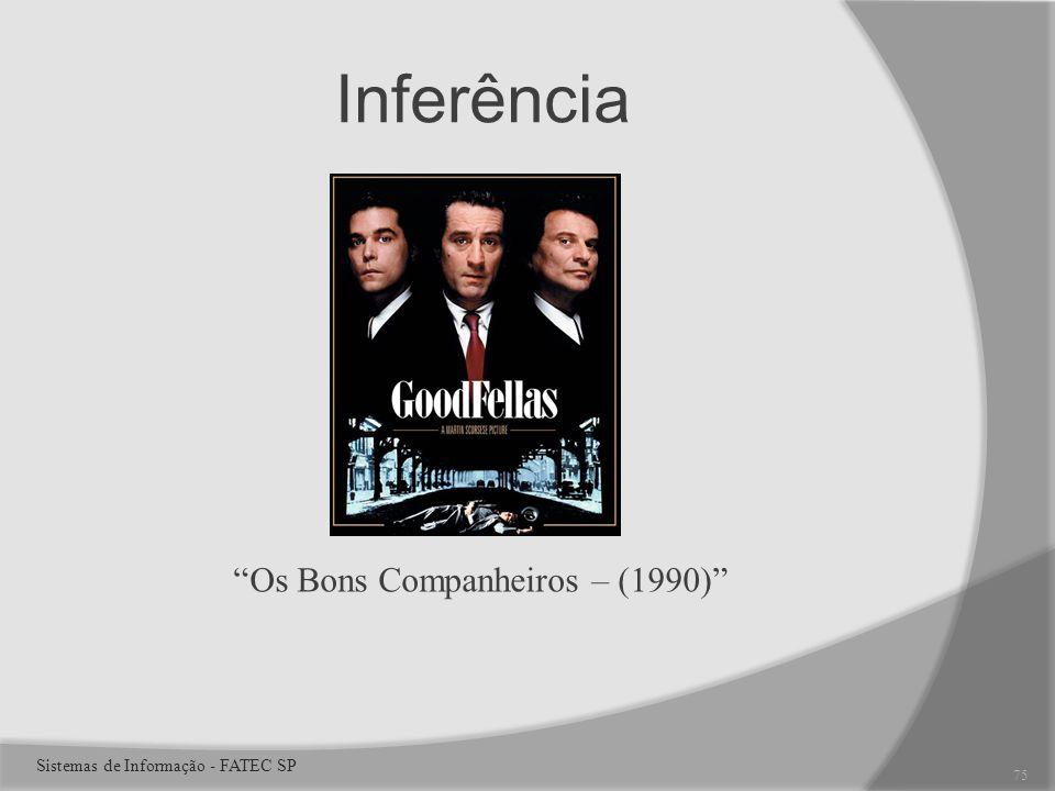 Inferência Os Bons Companheiros – (1990) 75 Sistemas de Informação - FATEC SP