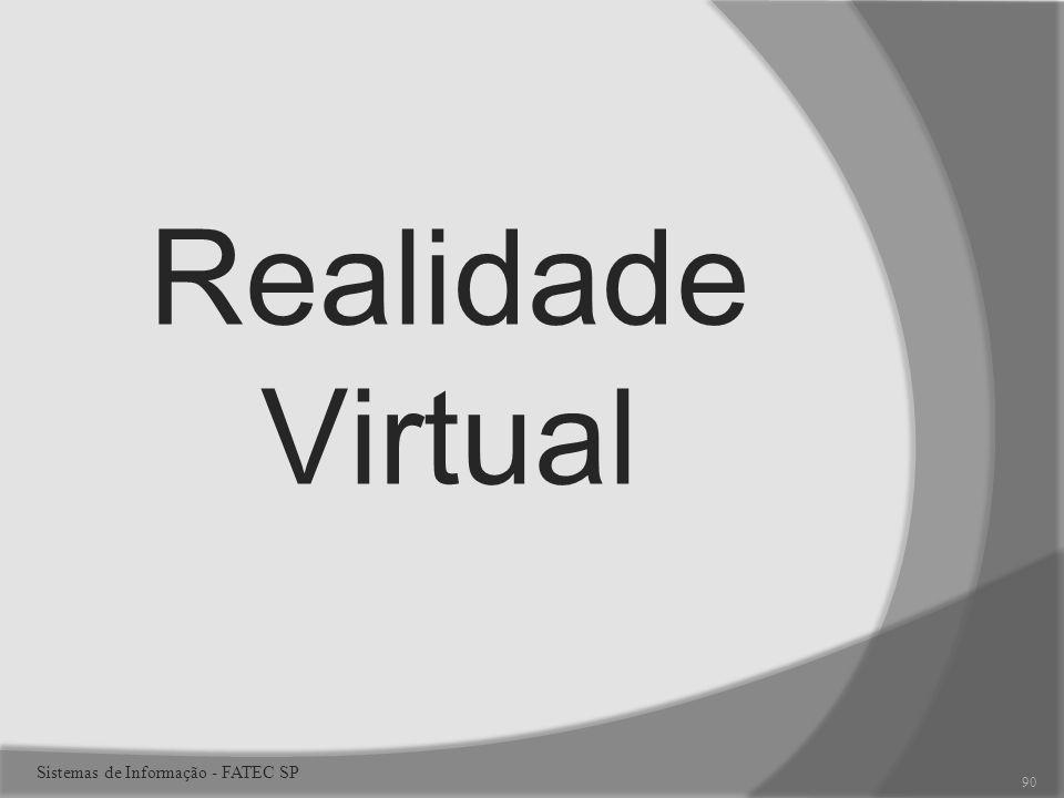 Realidade Virtual 90 Sistemas de Informação - FATEC SP