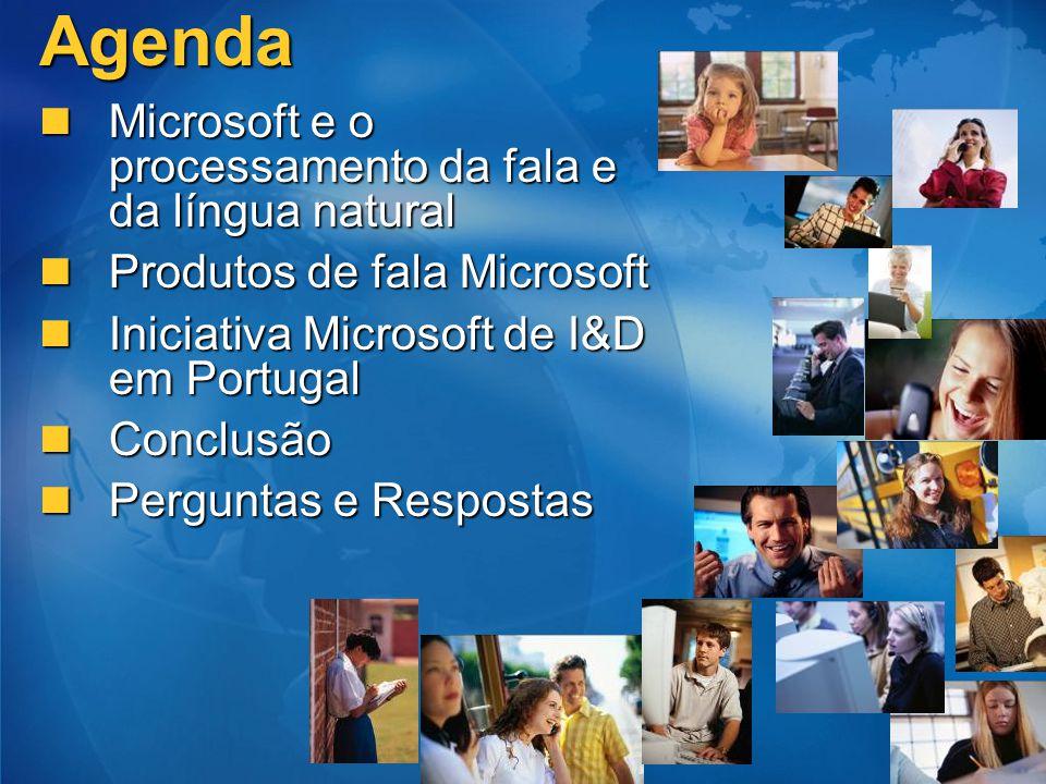 Agenda Microsoft e o processamento da fala e da língua natural Microsoft e o processamento da fala e da língua natural Produtos de fala Microsoft Prod