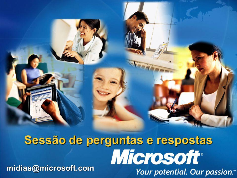 Sessão de perguntas e respostas midias@microsoft.com