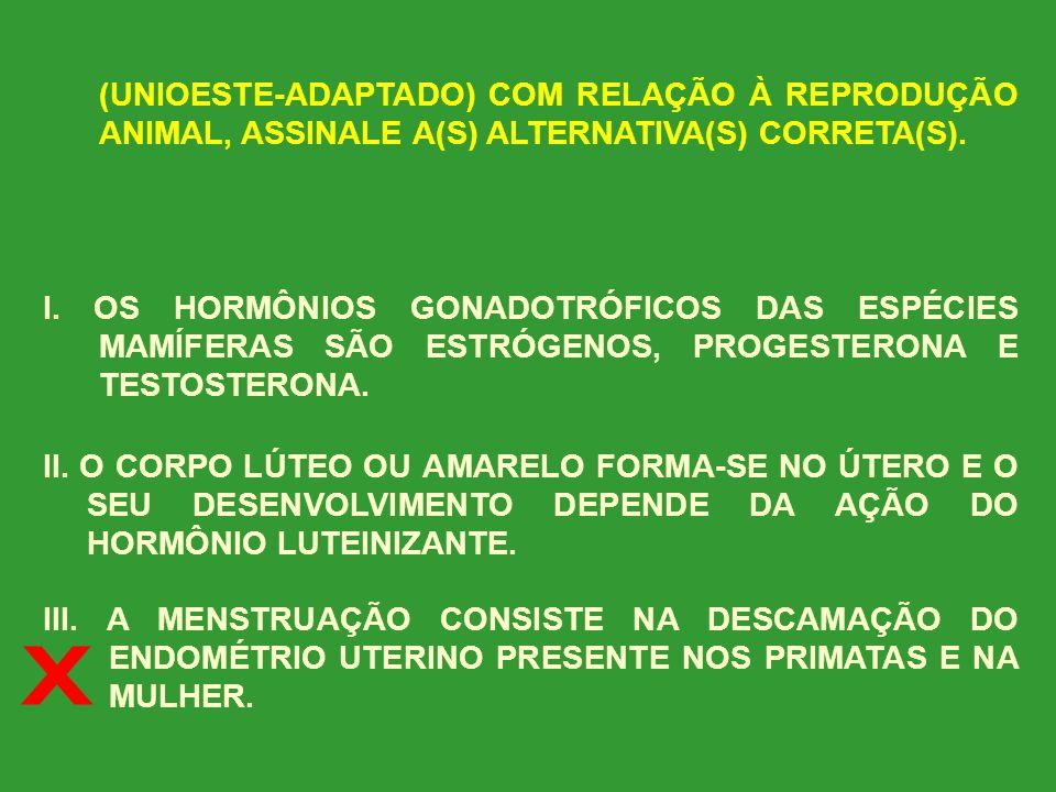 (PUC) ANALISE AS AFIRMATIVAS ABAIXO E ASSINALE A(S) QUE JULGAR CORRETA(S). I. A ESTERILIZAÇÃO MASCULINA CHAMADA VASECTOMIA É UM DOS MÉTODOS QUE CONSIS