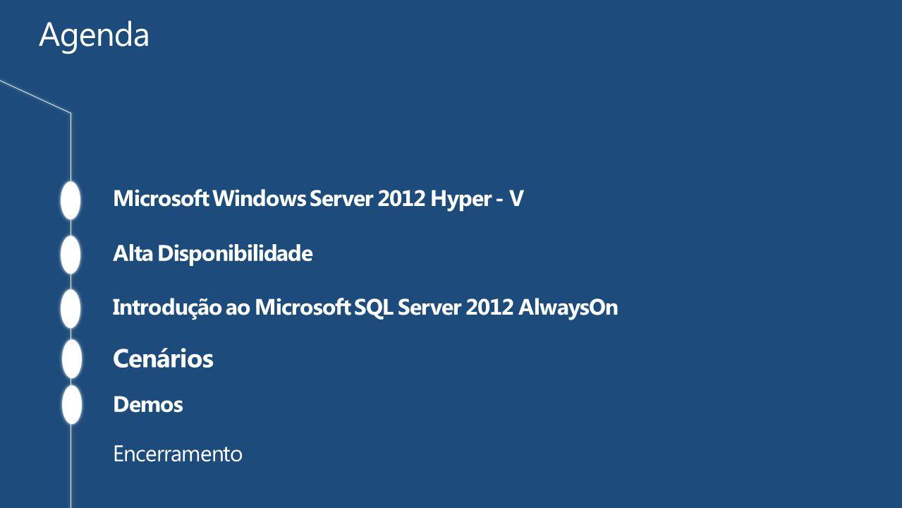 O SQL Server 2012 traz significantes mudanças em relação ao comportamemento de HA e DR dentro do banco de dados.