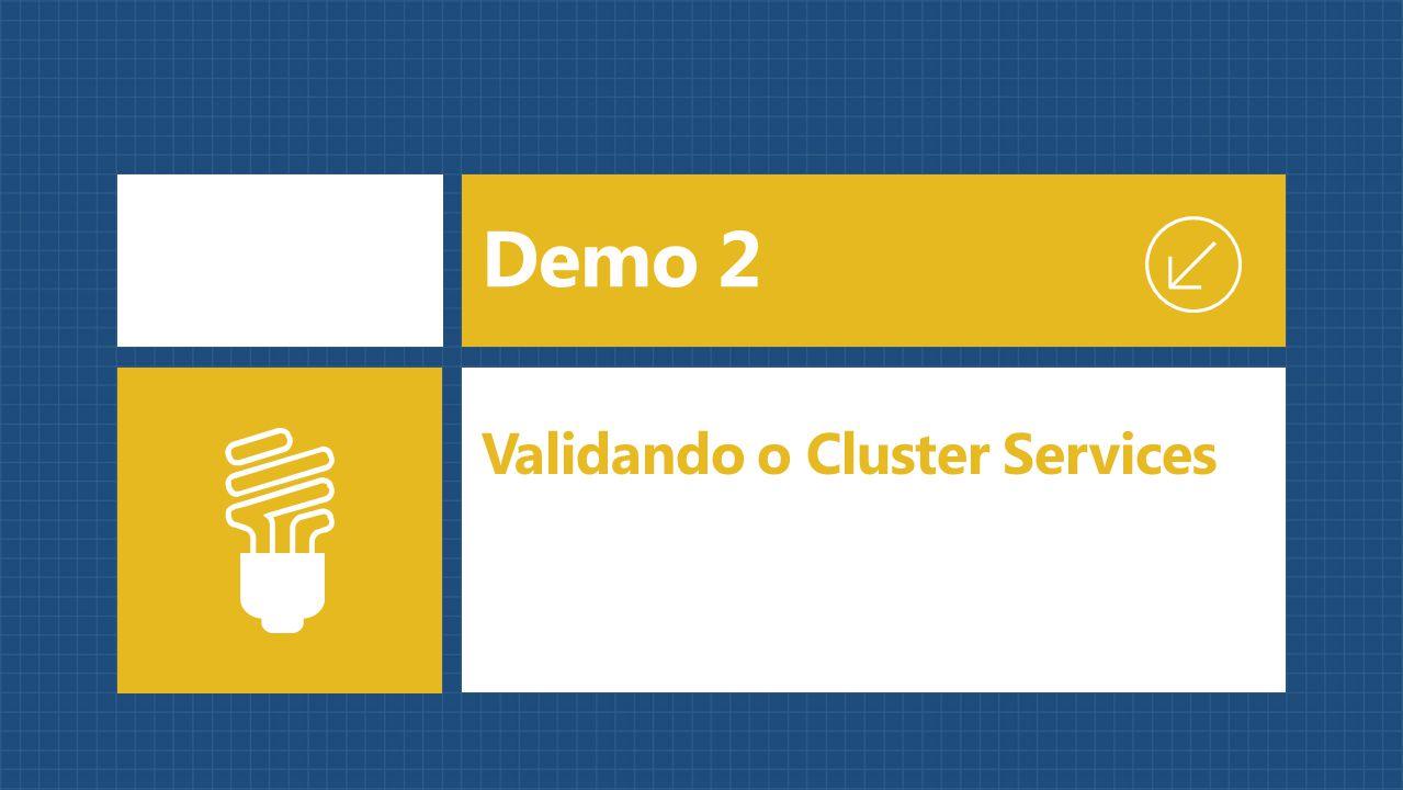 Demo 2 Validando o Cluster Services