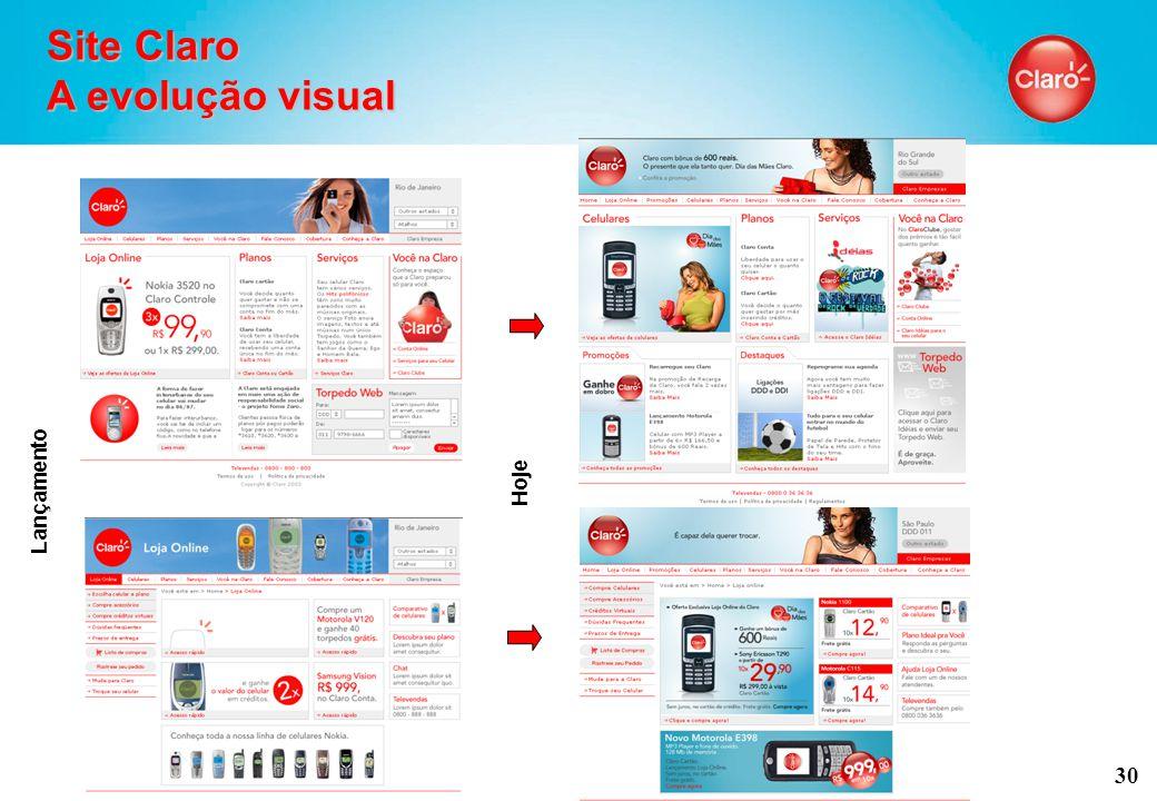 30 Site Claro A evolução visual Lançamento Hoje
