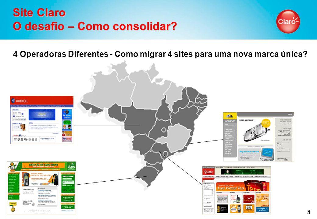 8 Site Claro O desafio – Como consolidar.