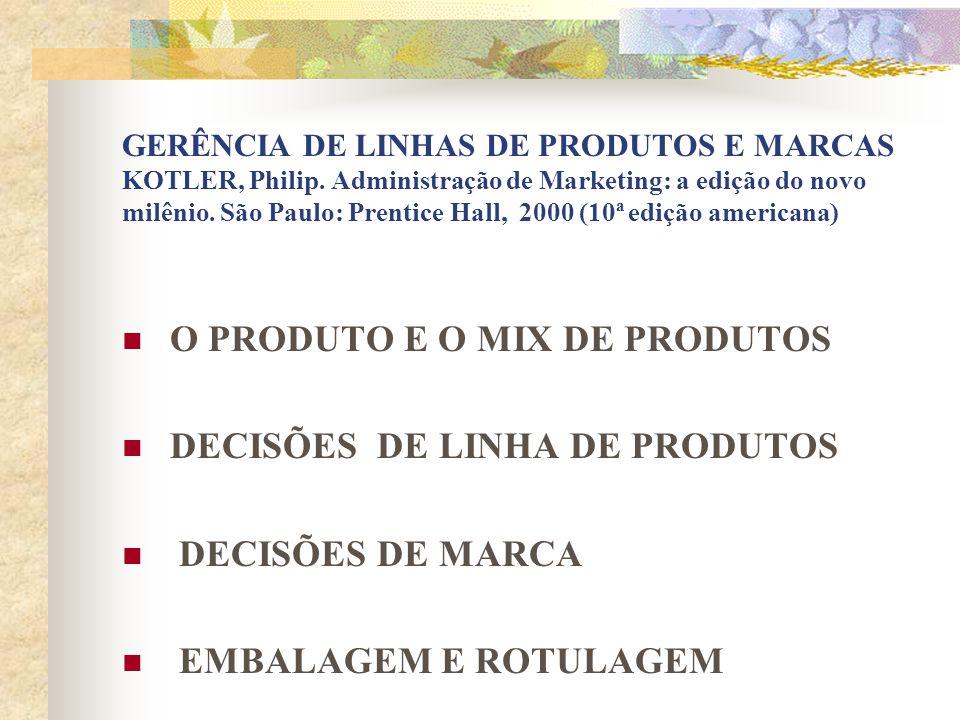 1 - PRODUTO E MIX DE PRODUTO PRODUTO Conceito 1.1 NÍVEIS DE PRODUTO