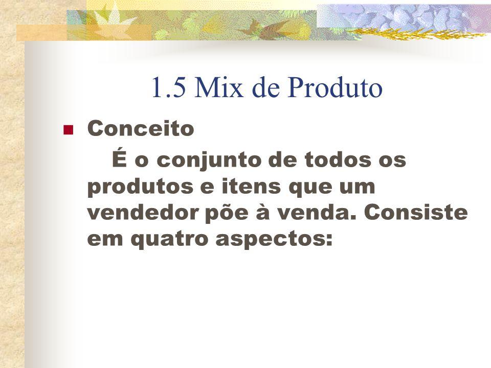 Abrangência: refere-se a quantas diferentes linhas de produtos a empresa traz.