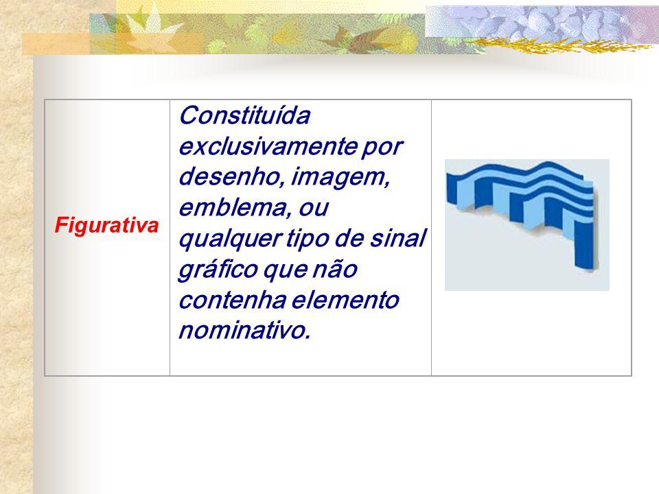 Mista Constituída simultaneamente, por elemento nominativo e figurativo ou por elemento nominativo cuja apresentação tenha suficiente cunho distintivo da escrita usual.