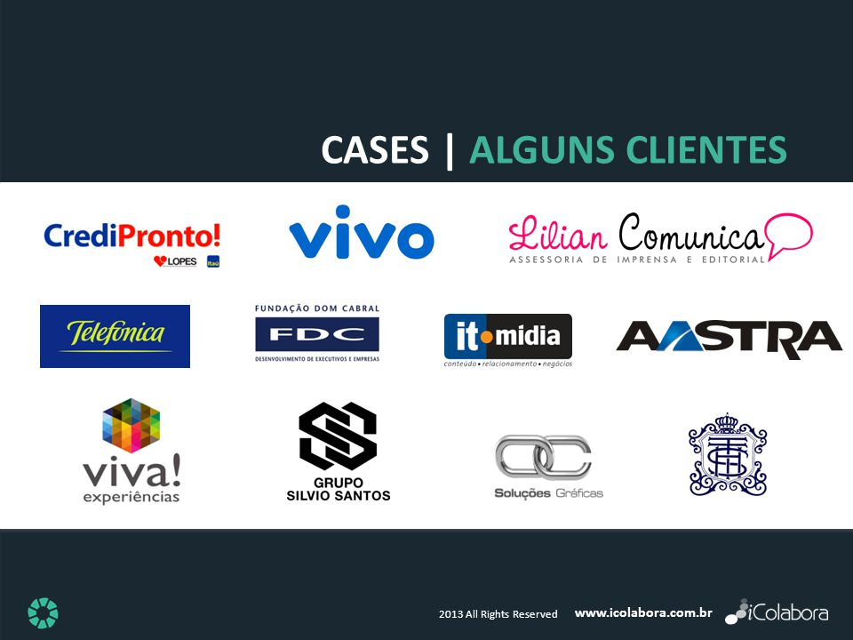 www.icolabora.com.br 2013 All Rights Reserved CASES | ALGUNS CLIENTES