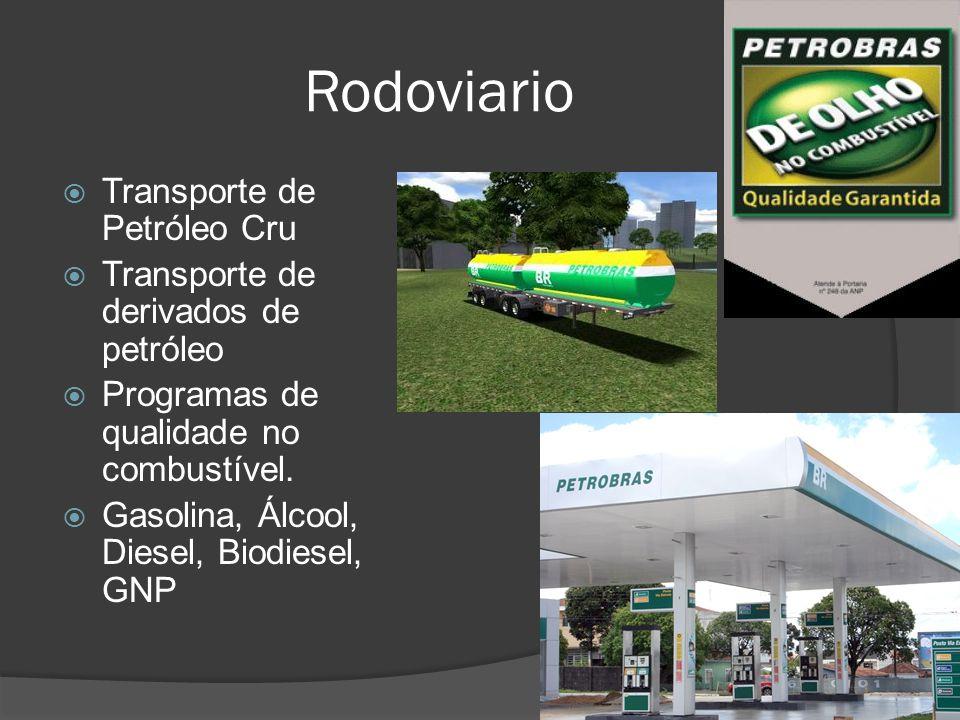 Rodoviario Transporte de Petróleo Cru Transporte de derivados de petróleo Programas de qualidade no combustível. Gasolina, Álcool, Diesel, Biodiesel,