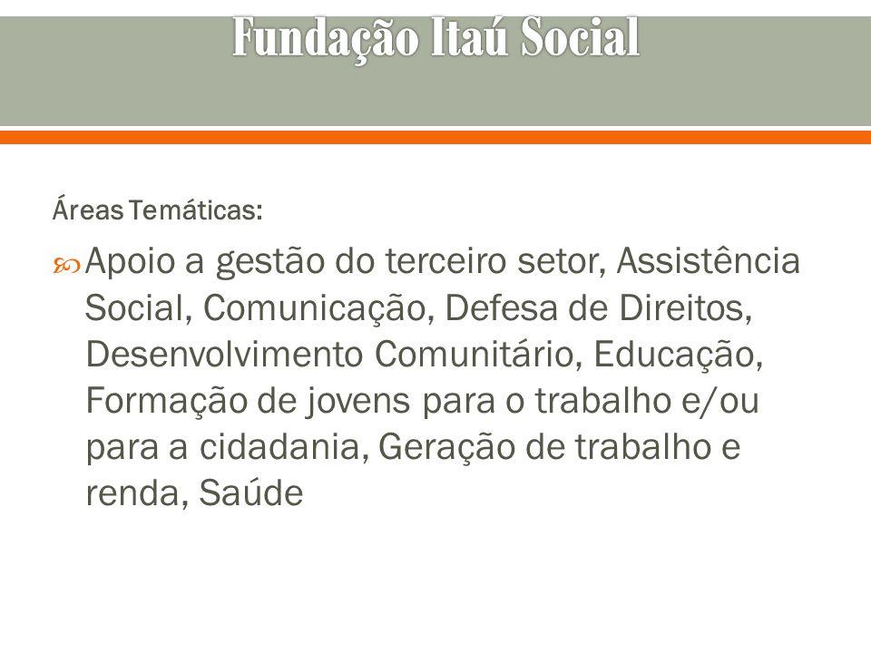Áreas Temáticas: Apoio a gestão do terceiro setor, Assistência Social, Comunicação, Defesa de Direitos, Desenvolvimento Comunitário, Educação, Formaçã