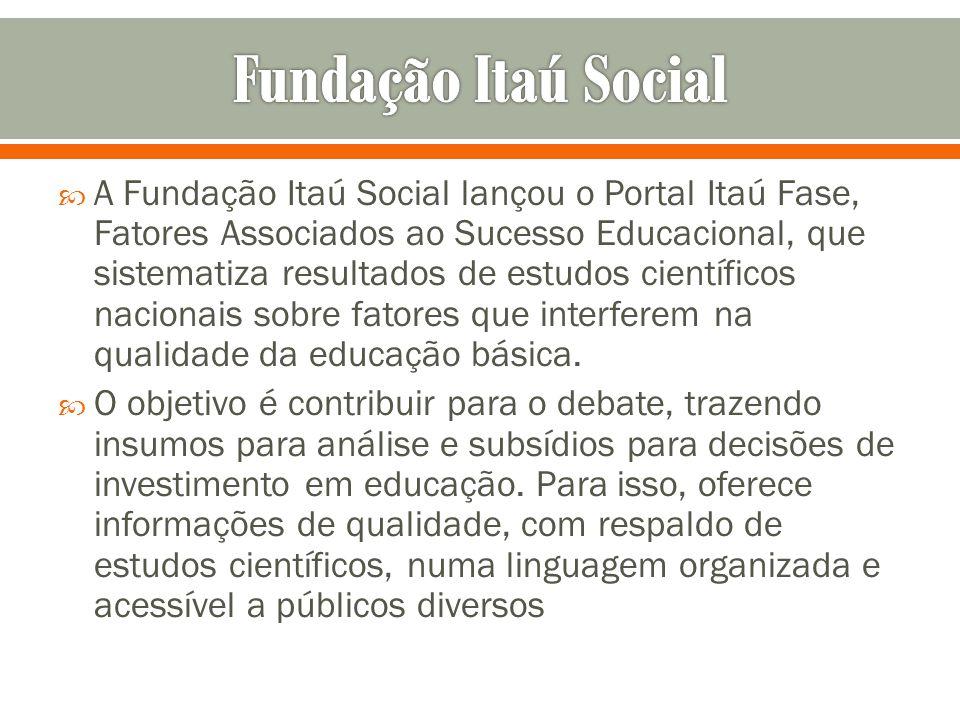 A Fundação Itaú Social lançou o Portal Itaú Fase, Fatores Associados ao Sucesso Educacional, que sistematiza resultados de estudos científicos naciona