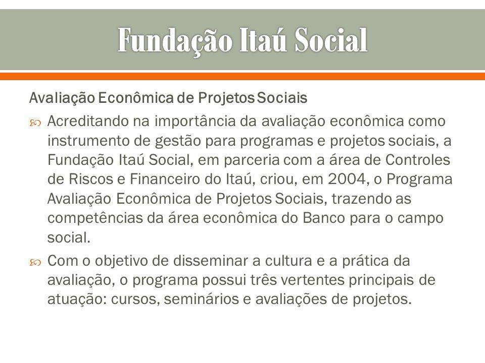 Avaliação Econômica de Projetos Sociais Acreditando na importância da avaliação econômica como instrumento de gestão para programas e projetos sociais