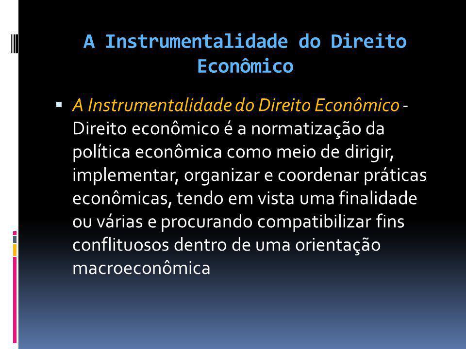 A Instrumentalidade do Direito Econômico A Instrumentalidade do Direito Econômico - Direito econômico é a normatização da política econômica como meio