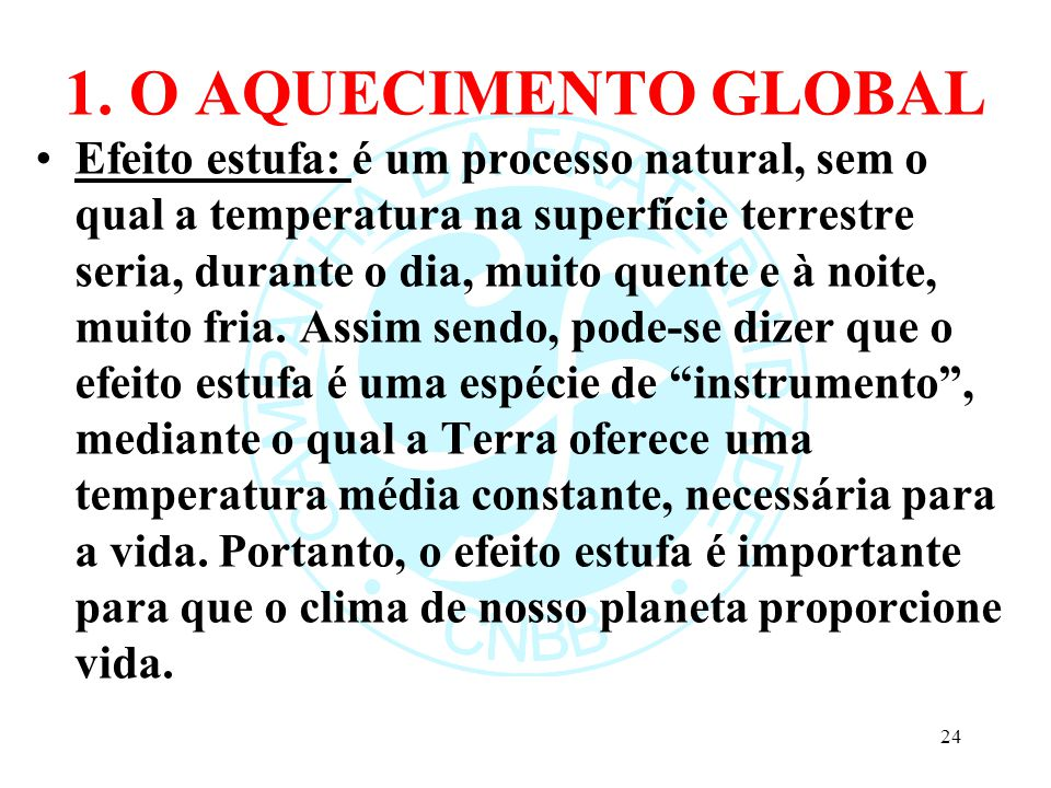 1. O AQUECIMENTO GLOBAL 25