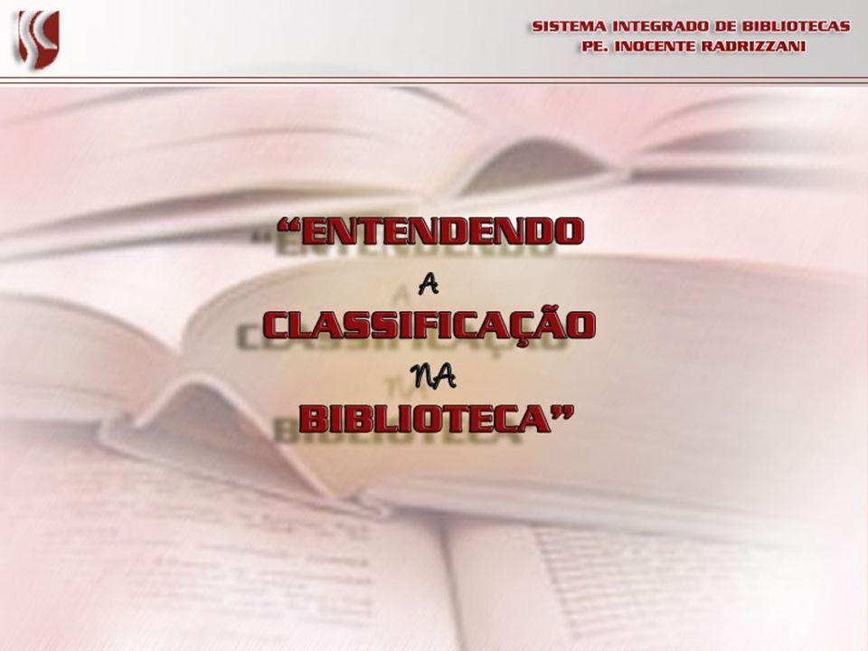 Conhecendo a CDD Todos os livros das áreas do conhecimento citadas começam com uma numeração, essa numeração é a classificação que facilita a organização e a busca do livro no acervo.
