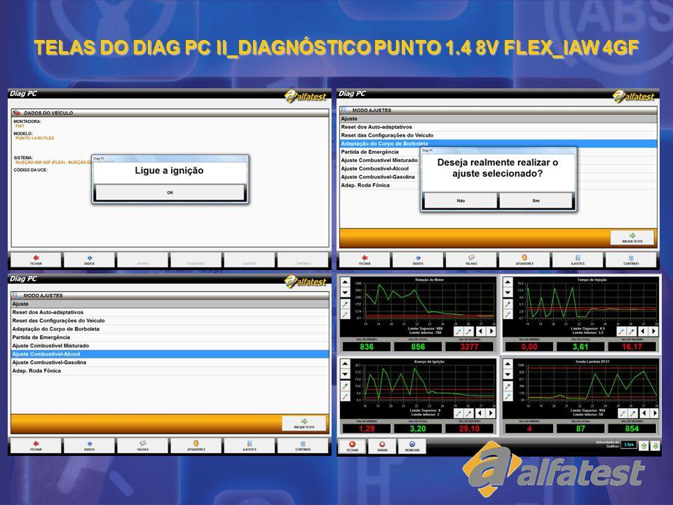TELAS DO DIAG PC II_DIAGNÓSTICO PUNTO 1.4 8V FLEX_IAW 4GF