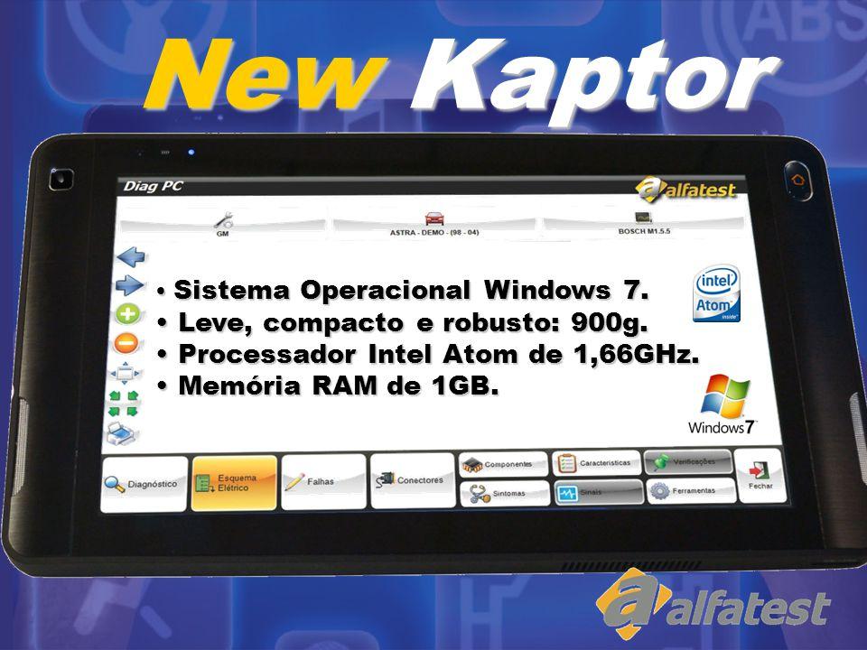 Tela LCD colorida de 10,1 de alta definição (1028 x 600 pixels) com Touch Screen de alta sensibilidade e moderna tecnologia capacitiva.
