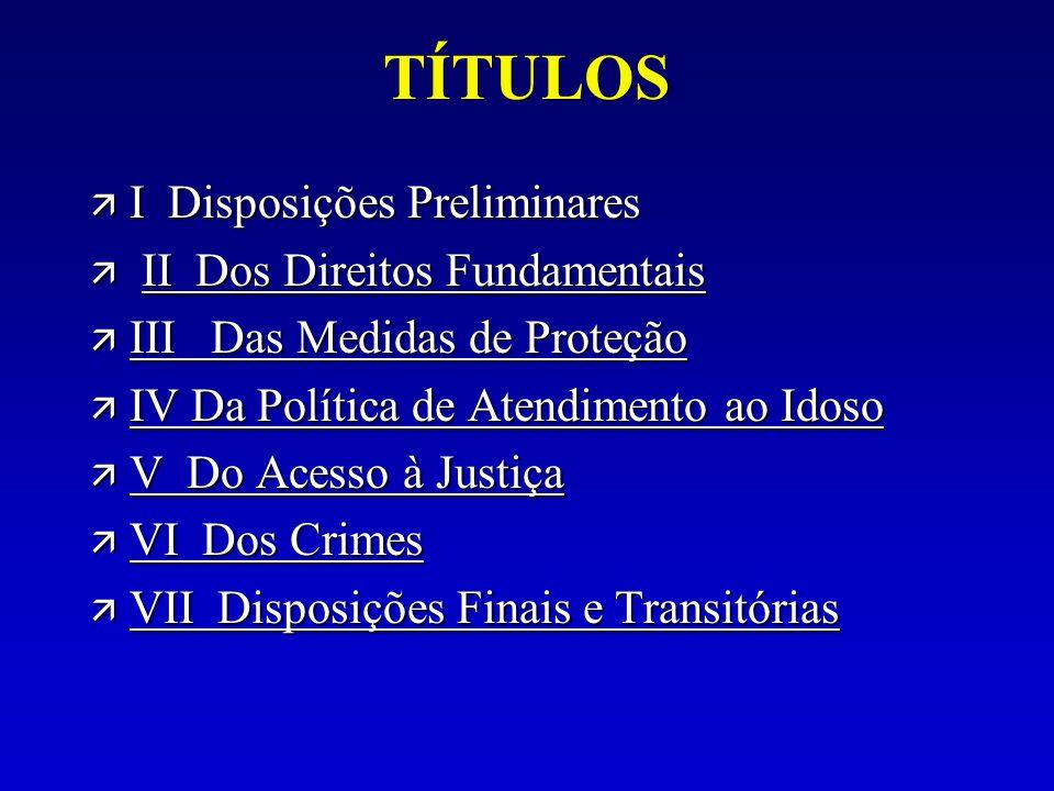 TÍTULOS ä I Disposições Preliminares ä II Dos Direitos Fundamentais II Dos Direitos FundamentaisII Dos Direitos Fundamentais ä III Das Medidas de Prot