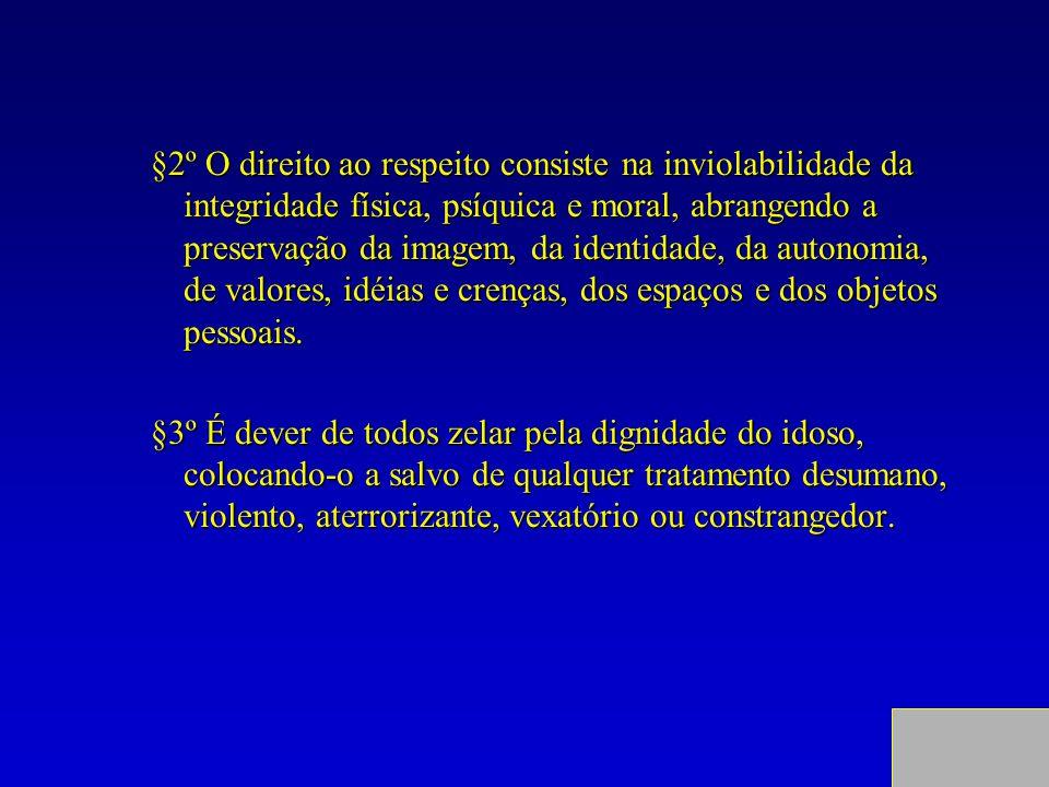 §2º O direito ao respeito consiste na inviolabilidade da integridade física, psíquica e moral, abrangendo a preservação da imagem, da identidade, da a