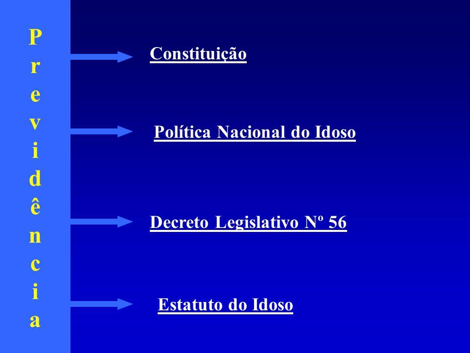 PrevidênciaPrevidência Estatuto do Idoso Política Nacional do Idoso Constituição Decreto Legislativo Nº 56