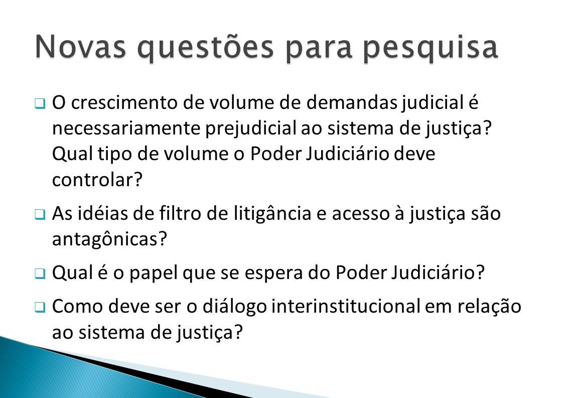 O crescimento de volume de demandas judicial é necessariamente prejudicial ao sistema de justiça.