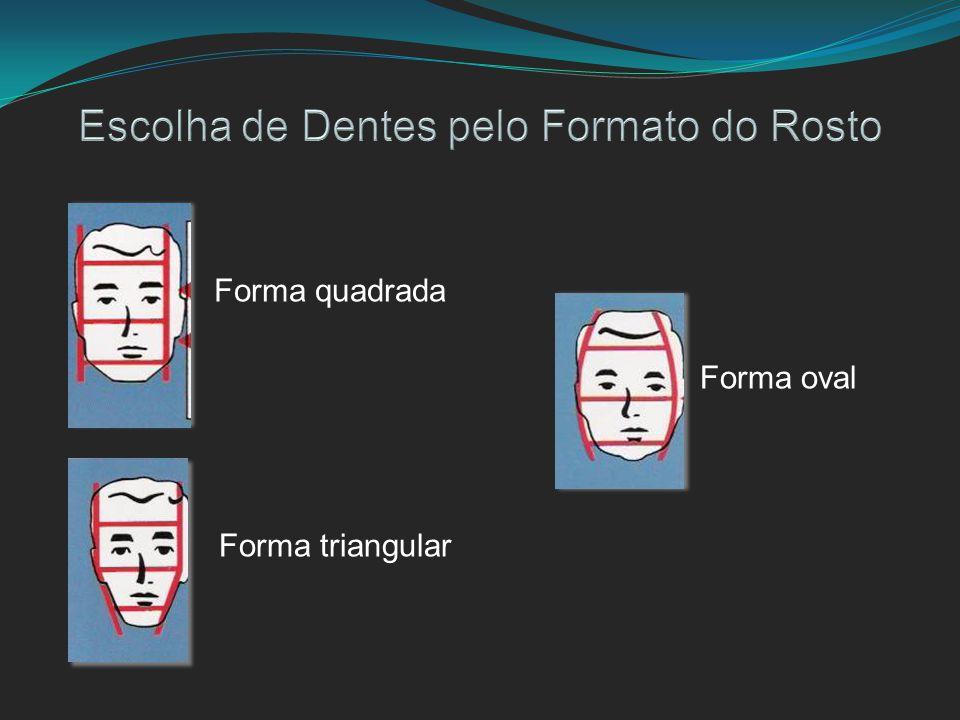 Forma quadrada Forma triangular Forma oval