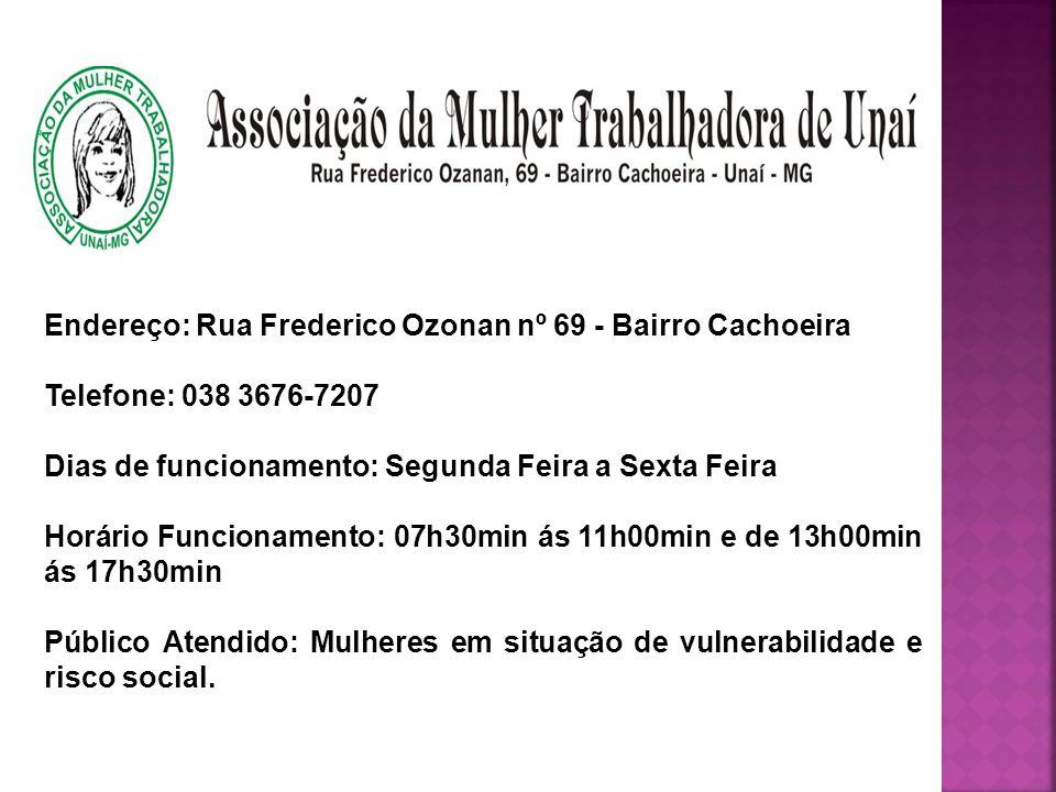 A Associação da Mulher Trabalhadora de Unaí- AMTU está Inscrita neste Conselho Municipal da Assistência Social de Unaí- MG, possuindo Nº.