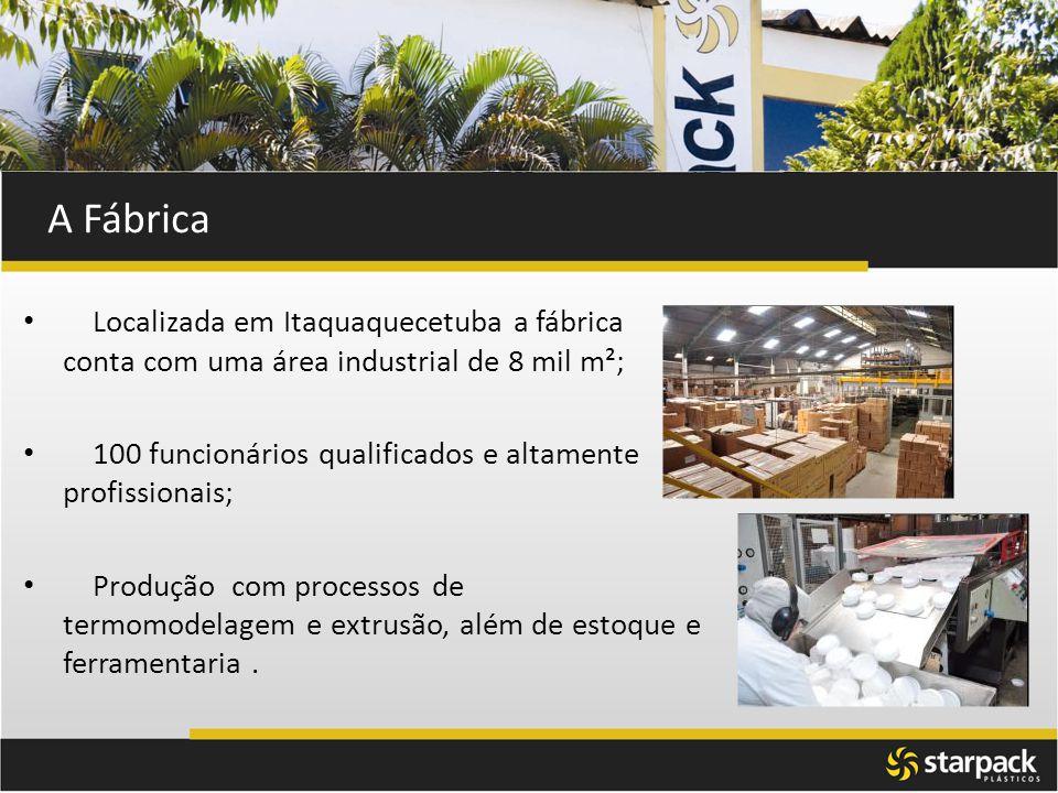 A Fábrica Localizada em Itaquaquecetuba a fábrica conta com uma área industrial de 8 mil m²; 100 funcionários qualificados e altamente profissionais;