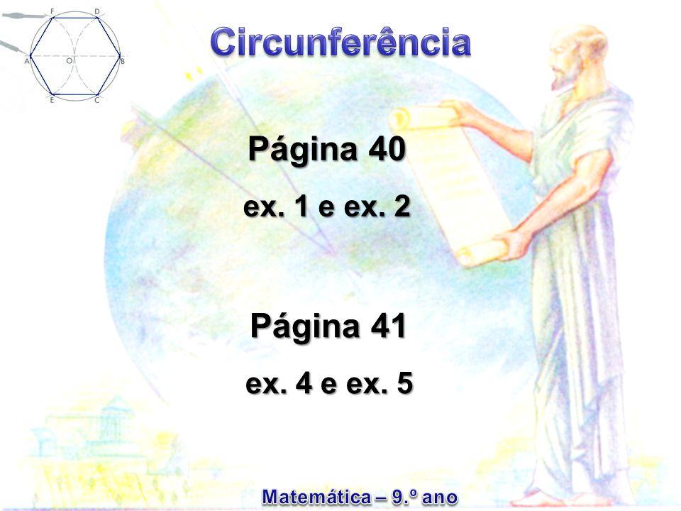 Página 40 ex. 1 e ex. 2 Página 41 ex. 4 e ex. 5