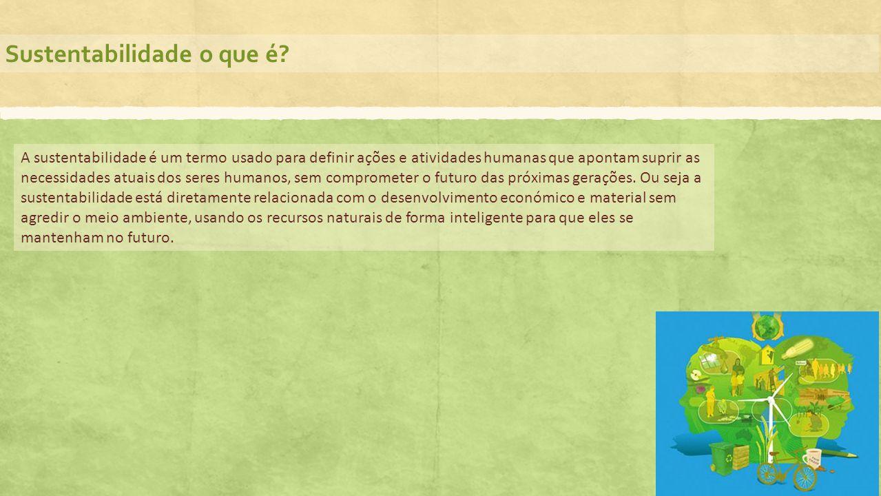 Sustentabilidade o que é? A sustentabilidade é um termo usado para definir ações e atividades humanas que apontam suprir as necessidades atuais dos se