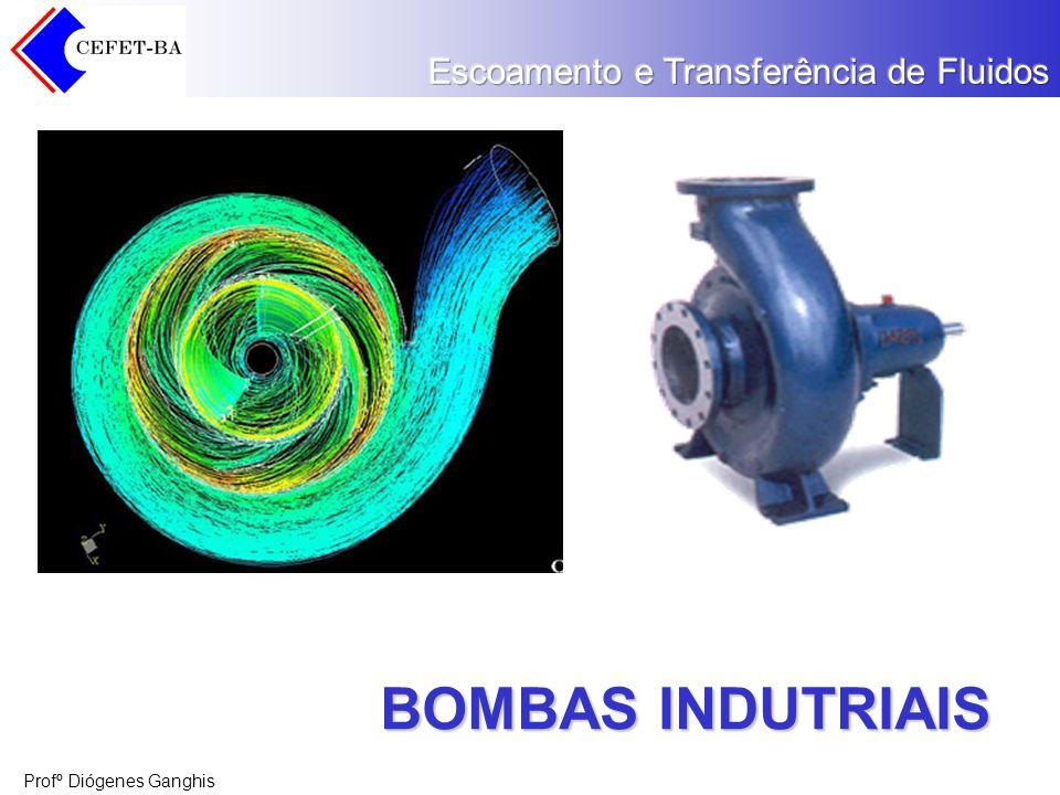 Profº Diógenes Ganghis Capacidade Capacidade significa a taxa de fluxo (vazão volumétrica) com que o líquido é movido ou é empurrado pela bomba ao ponto desejado no processo.