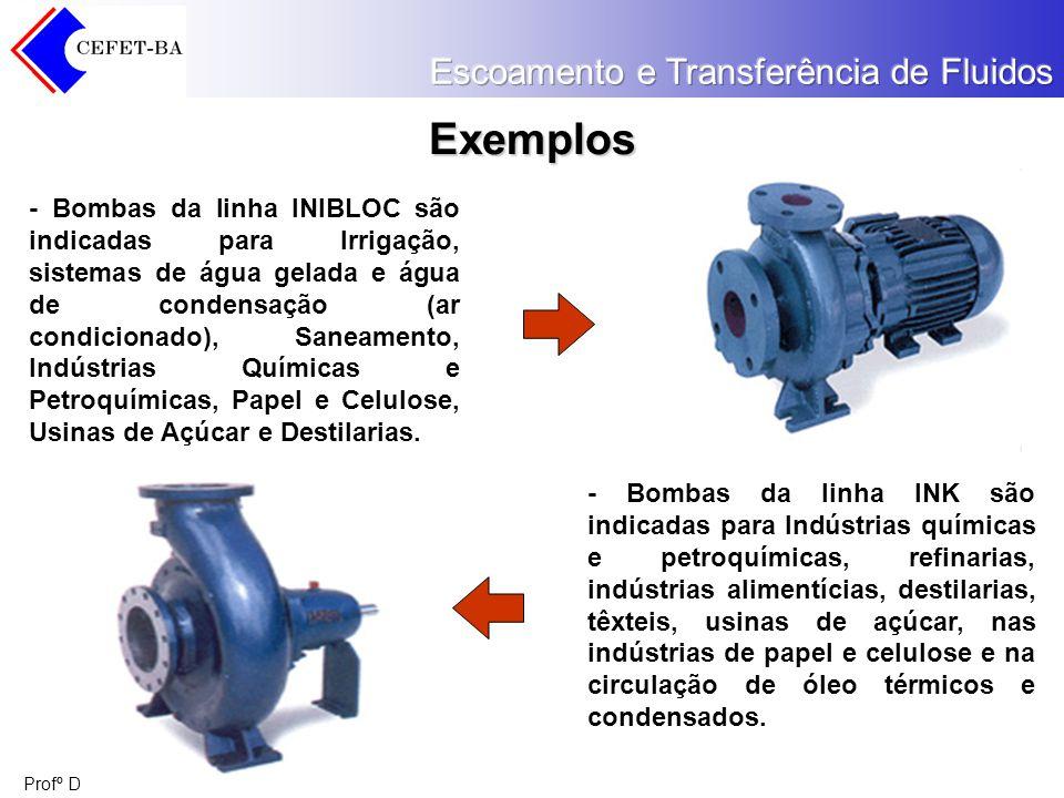 Profº Diógenes Ganghis Exemplos - Bombas da linha INIBLOC são indicadas para Irrigação, sistemas de água gelada e água de condensação (ar condicionado
