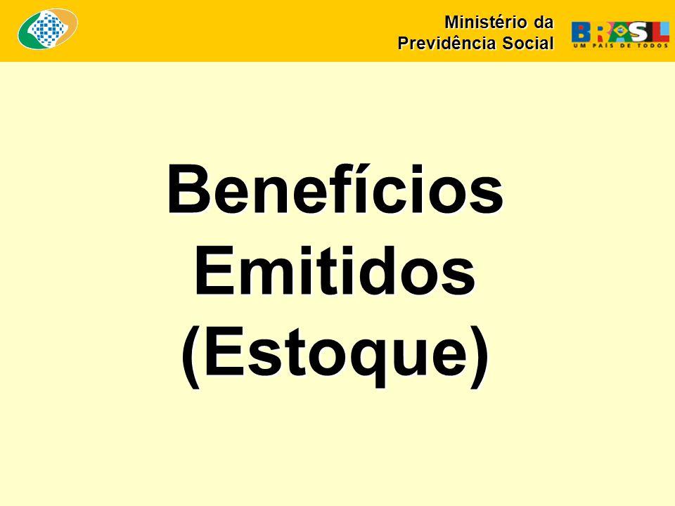 Benefícios Emitidos (Estoque) Ministério da Previdência Social
