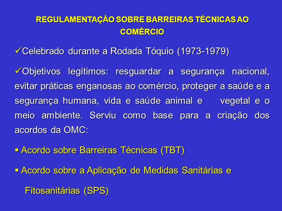 REGULAMENTAÇÀO SOBRE BARREIRAS TÉCNICAS AO COMÉRCIO Celebrado durante a Rodada Tóquio (1973-1979) Celebrado durante a Rodada Tóquio (1973-1979) Objeti