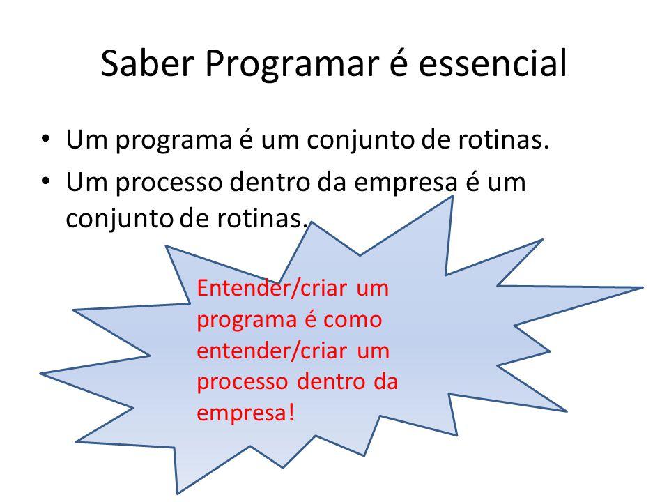 Entender/criar um programa é como entender/criar um processo dentro da empresa.