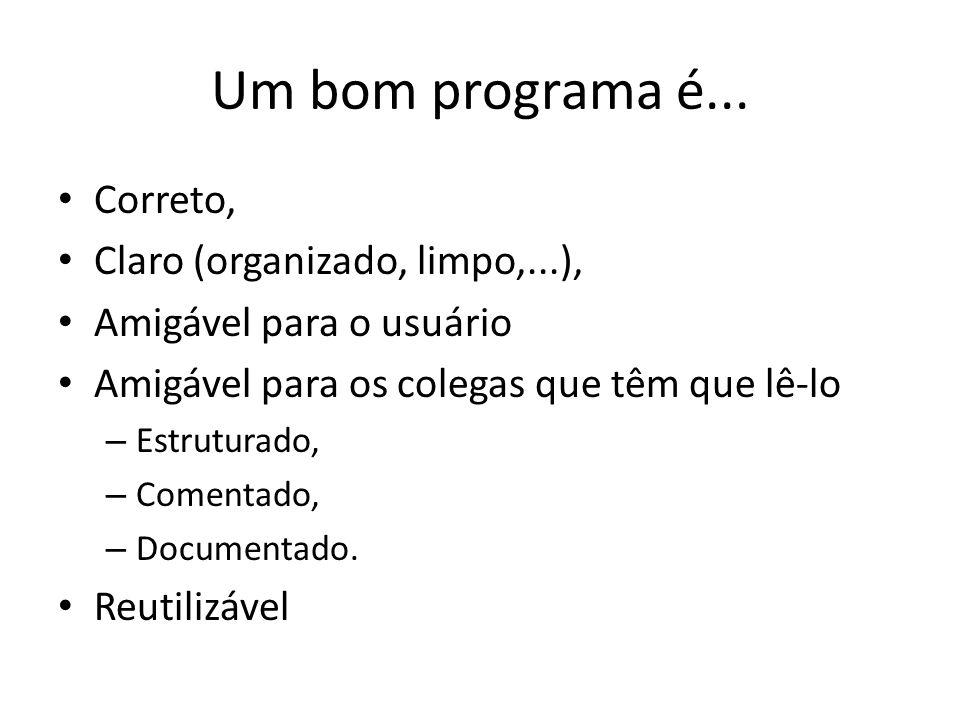 Um bom programa é...