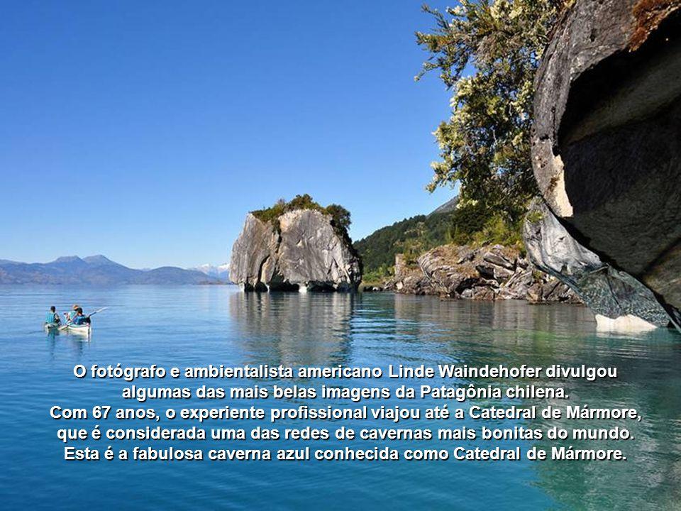 O lago é compartilhado com a Argentina, mas as cavernas estão do lado chileno. mas as cavernas estão do lado chileno.