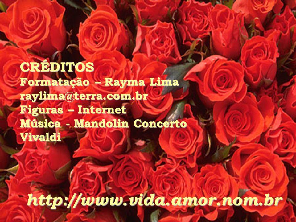 CRÉDITOS Formatação – Rayma Lima raylima@terra.com.br Figuras – Internet Música - Mandolin Concerto Vivaldi http://www.vida.amor.nom.br